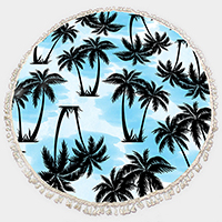 Palm Tree_Multi-Way Round Beach Throw