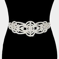 Rhinestone Sash Ribbon Bridal Wedding Belt