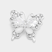 Pave Butterfly Brooch