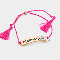 Mermaid _  Silk Thread with Double Tassel Bracelet