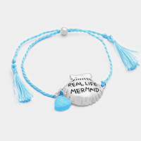 REAL LIFE MERMAID _ Shell Silk Thread with Double Tassel Bracelet