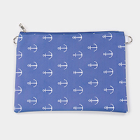 Anchor Pattern Clutch Bag