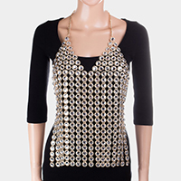 Stone Camisole Top Body Chain Necklace