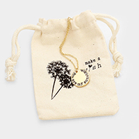 You are my sunshine _ Disc Pendant Necklace Gift Bag Set