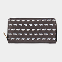 Faux Leather Elephant Wallet