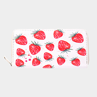 Faux Leather Strawberry Wallet