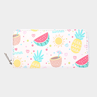 Faux Leather Fruits Wallet