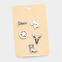 5 PCS -Hammered Texas Theme Brooch