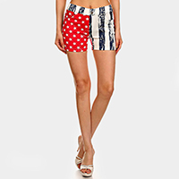 Casual Comfy Star & Stripe  American Flag Short Leggings