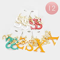 12 Pairs - KISS and SEXY Dangle Earrings