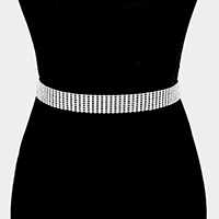 Cup Chain with Rhinestone Belt