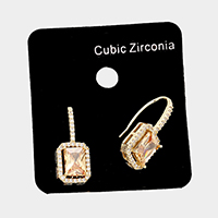 CZ Rectangle Ear Climbers