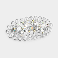 Pave Rhinestone Double Butterfly Barrette