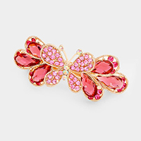 Pave Rhinestone Butterfly Barrette