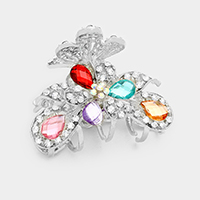 Pave Crystal Butterfly Hair Claw Clip