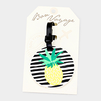 Pineapple _ Bon Voyage Rubber Luggage Tag