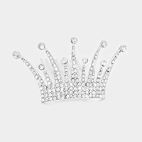 Marquise Crown Crystal Rhinestone Mini Tiara