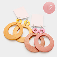 12 Pairs - Double Round Earrings