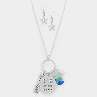 Life is better at the beach _ Sea-life Charm Necklace