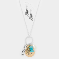 Dreaming of the SEA _ Mermaid Charm Necklace
