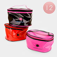 12 PCS - Forever Love _ Lip & Lipstick Enamel Cosmetic Bag