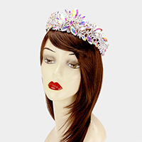 Glass crystal marquise vine tiara
