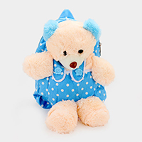 Polka Dot Bear Doll Backpack