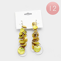 12 Pairs - Shell Chandelier Fish Hook Earrings