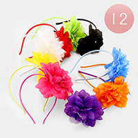 12 PCS - Oversized Flower Headbands