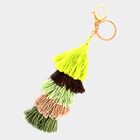 5 Layered Multi Colored Tassel  Keychain