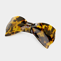 Tortoise Bow Hair Barrette
