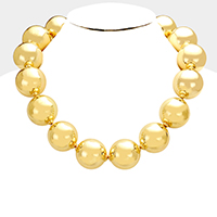 Chunky Style Metal Ball Necklace