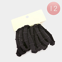 12 Set of 10 - Thick Ponytail Hair Bands