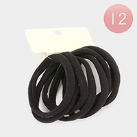 12 Set of 8 - Thick Ponytail Hair Bands