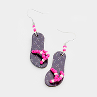 Printed Anchor Flip Flop Earrings