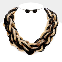Braided Intertwining Metal Necklace