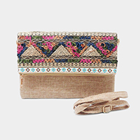 Embroidery Folding Clutch Bag