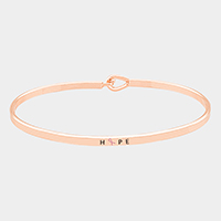 Hope _ Thin Metal Pink Ribbon Hook Bracelet