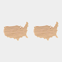 USA Map Stud Earrings