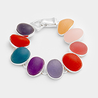 Multi Colored Bead Dome Magnetic Bracelet