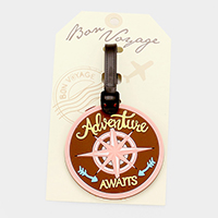 Adventure Awaits_ Bon Voyage Rubber Luggage Tag