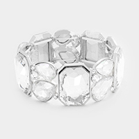 Marquise Crystal Glass Stretch Bracelet