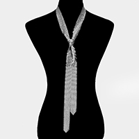 Metal Mesh Tie Necklace