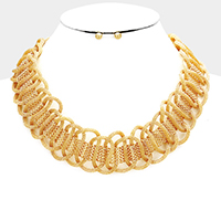 Twisted Mesh Chain Statement Necklace