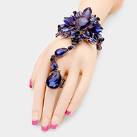 Marquise Glass Crystal Stone Vine Bracelet