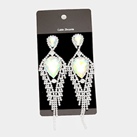 Cubic Zirconia Fringe Evening Earrings