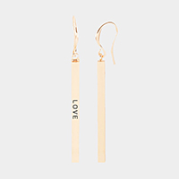 Love Metal Bar Earrings
