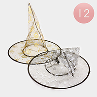 12 PCS -  Halloween Costume Witch Hats