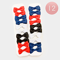 Fabric Bow Hair Barrettes