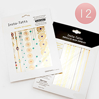 Weatherproof Metallic Temporary Tattoo Sticker
